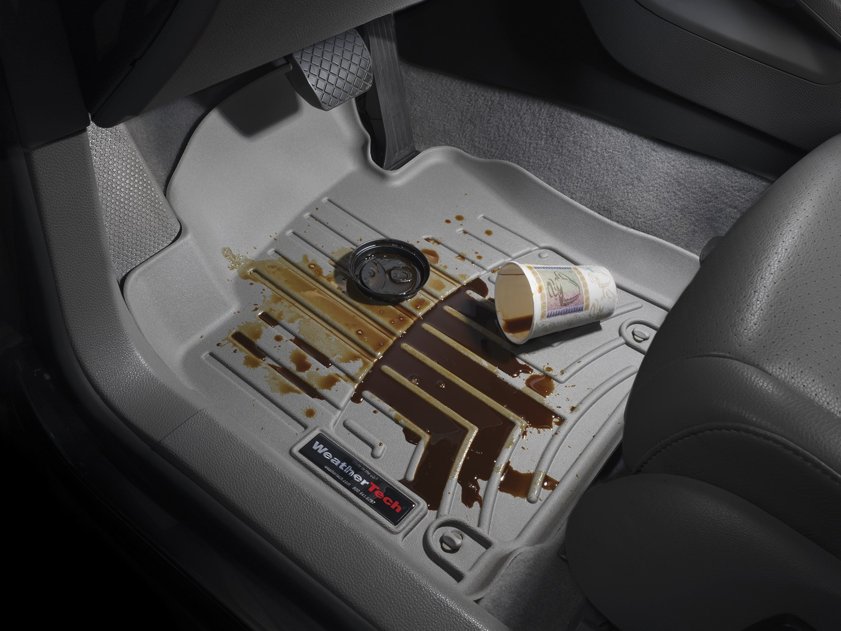 Coffee Spilt on WeatherTech Mat
